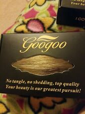 Googoo 20pcs 50g Human Hair Extensions Tape in Ombre Chocolate Brown to Caram...
