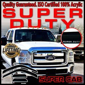 F250 F350 F450 F550 Super Duty Extended Cab Window Vent Deflectors Guards Visors