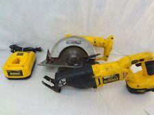 Dewalt 18V Ni-Cd 2-Tool Combo Set Dw939 Circular Saw & Dw938 Reciprocating Saw