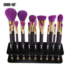 MAANGE 15Pc Foundation Brush Shelf Storage Organizer Makeup Brush Display Holder