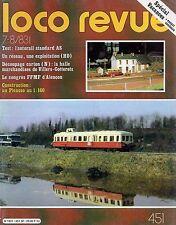 LOCO REVUE N°451 juillet 1983 picasso autorail