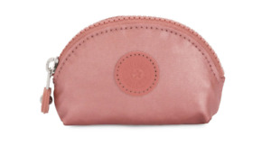 Kipling BAROE S Small Pouch / coin  purse metallic rust brand new with tags