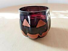 Yankee Candle Halloween Glass Votive Candle Holder Pumpkin Head