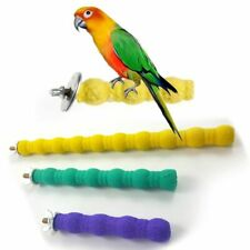 Bird Parrot Grinding Claw Chew Stand Pet Perch Cage Cockatiel Parakeet Hanging