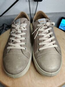 Ecco Hydromax Gray Leather Spikeless Golf Shoes US Mens 12 EU 45 Mint