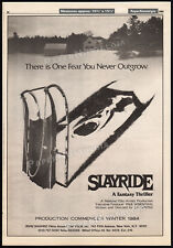 SLAYRIDE_aka_SILENT NIGHT, DEADLY NIGHT__Original 1984 Trade AD promo / poster