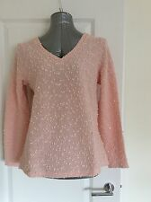 Billie & Blossom Size 14 Pink V Neck Sequin Jumper