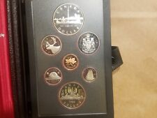 1984 Canadian 7 Coin Proof set Cent to Dollar with Silver Toronto $1 Canada