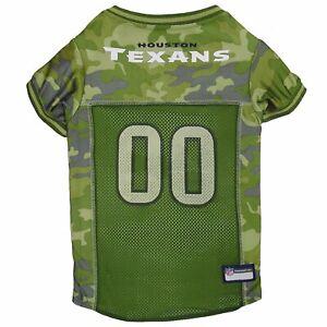 "Houston Texans NFL Camouflage Dog Team Jersey Pet Wear Green Size XL(22""-26"")"