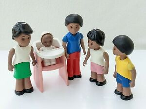 Little Tikes Dolls House Family Mum Dad Son Daughter Baby Figures People Vintage
