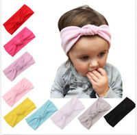 Baby Toddler Kids Girls Bow Hairband Turban KnotCotton Cute Headband Headwear I2