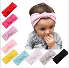Baby Toddler Kids Girls Bow Hairband Turban Knot Cotton Cute Headband HeadwearEB