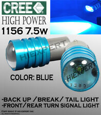 2 pr 1156 1141 LED 7W CREE Blue Replacement for Front Turn Signal Light Bulb B82
