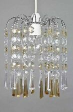 Chiselled Droplet Pendant Shade Ceiling Light Fitting Champagne LMB095