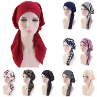 Muslim Hair Loss Head Scarf Head Wrap Ladies Stretch Turban Cancer Hat Chemo Cap
