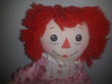 Bedtime Raggedy Ann soft doll with teddy PJs nightgown Furry slippers 2002