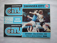 Orig.PRG   England  1.Division  1982/83   MANCHESTER CITY - SWANSEA CITY FC  !!