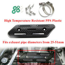 Motorcycle Exhaust Pipe Carbon Fibre Cover Protector Heatproof Anti scalding