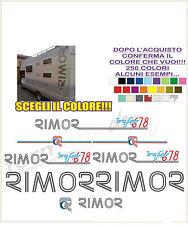 kit adesivi stickers compatibili camper rimor brig super 678 full kit