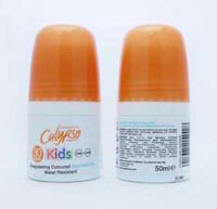 2 X CALYPSO KIDS SUN PROTECTION DISAPPEARING COLOURED BLUE ROLL ON SPF 30 50ml