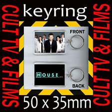 HOUSE MD-Dr. GREGORY HOUSE- JAMES LAURIE- CULT TV- KEYRING -KEY CHAIN 50mmX35mm