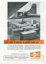 1951 Collins Radio Ad Pan Am at La Guardia Pan American Stations in Africa