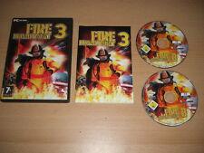 Fire Department 3 PC CD ROM pompier livraison rapide