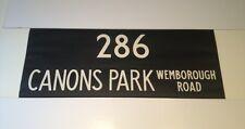 """Routemaster Linen Bus Blind 1083 36""""- 286 Canons Park Wemborough Road"""