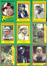 INDIANA JONES RAIDERS OF THE LOST ARK MOVIE 1981 TOPPS BASE CARD SET OF 88
