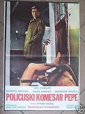 IL COMMISSARIO PEPE-E.SCOLA/U.TOGNAZZI-YUGO POSTER 1969