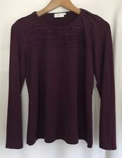 CC Women long sleeve Plum Top Size UK M