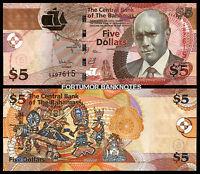 Bahamas 5 Dollars 2013 , UNC , P-72