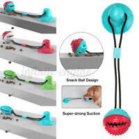 Pet Molar Bite Toy Multifunction Floor Suction Cup Dog Toy With Ball  ✵ ^ ∑