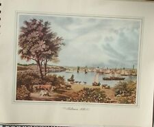 Baltimore, 1830 Engraving  by William J. Bennett Provident Mutual 1939