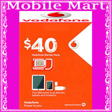 Vodafone◉$40 Credit Prepaid SIM CARD◉Unlimited Calls & Text◉18GB Data◉BULK BUY◉