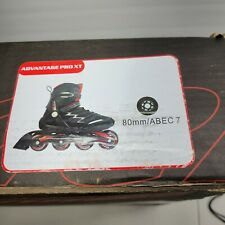 Rollerblade Advantage Pro XT Adult Men's Fitness Inline Skate, Size 7 BLACK/RED