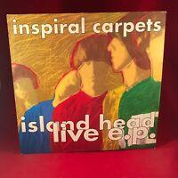 "INSPIRAL CARPETS Island Head Live EP  UK 12"" Vinyl Single EXCELLENT CONDITION"