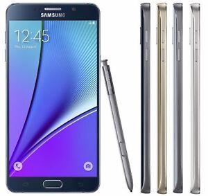 Verizon ONLY Samsung Galaxy Note 5 N920V 32GB 4G LTE Clean ESN White/Gold/Black