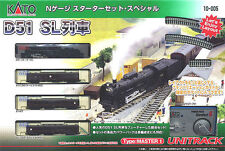 New Kato Japan N Gauge 10-005       D51 Passenger Starter Set