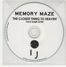 (GN569) Memory Maze, The Closest Thing To Heaven - DJ CD