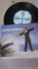 "Stevie Wonder-Muy contento 1985 Reino Unido problema Motown 7"" + FOTO MANGA ZB40567"