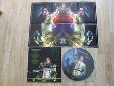 MICHAEL JACKSON PICTURE DISC LTD EDT + POSTER HISTORY WORLD TOUR SEOUL RARE