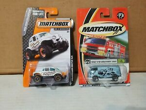 Matchbox VOLKSWAGEN BEETLE 4X4 1967 VW DELIVERY VAN LOT OF 2