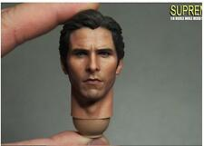 Custom 1/6 Scale Christian Bale Bruce Head Sculpt For Hot Toys Body