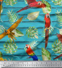 Soimoi Fabric Tropical Leaves & Bird Decor Fabric Printed Meter-BRD-18C