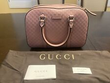 New Authentic Gucci Guccissima GG Crossbody Pink Leather Bag Medium