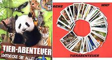 Rewe WWF TIERABENTEUER  - 180 STICKER - KOMPLETTER - SATZ