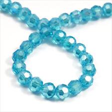 Lot de 50 perles à FACETTES 4mm en Cristal de Bohème Aquamarine