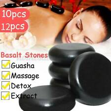10Pcs / 12Pcs Hot Stone Massage Basalt Rocks Therapy Stone Pain Relief For Spa