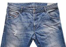 """Men's DIESEL Premium KRAYVER Regular Slim Carrot Distressed Jeans W34-36"""" L32"""""""